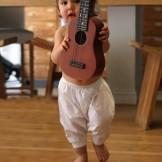 Sarouel blanc bébé voile de coton