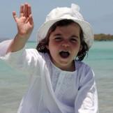 Tunique fille blanc