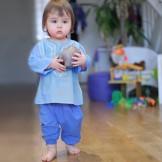 Sarouel bébé bleu indigo