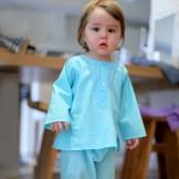 vetement bebe original turquoise