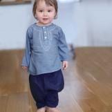 Sarouel bébé garçon bleu foncé