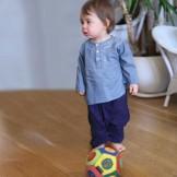 pantalon bebe bleu foncé