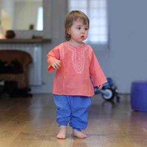Sarouel en voile de coton pour bébé - SAROUELS ET PANTALONS - Tortue de Mer