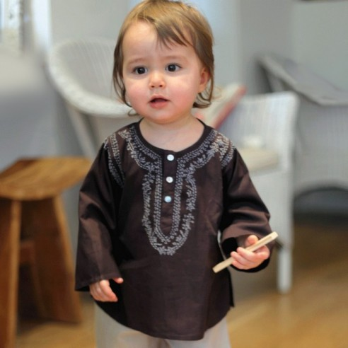 Baby brown summer kaftan