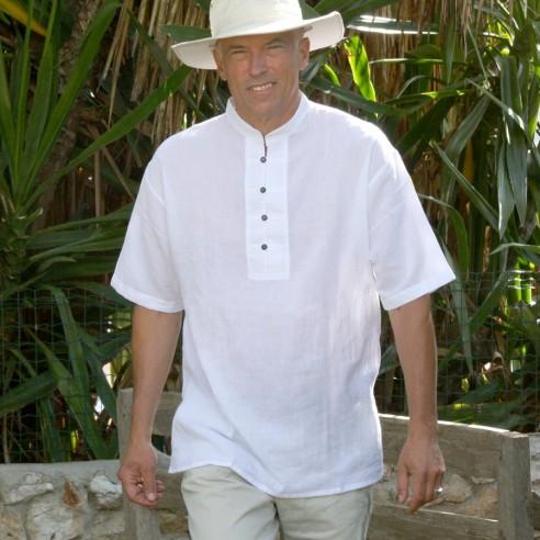 Mandarin collar shirt - MEN - Tortue de Mer
