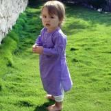 Tunique longue bébé pourpre