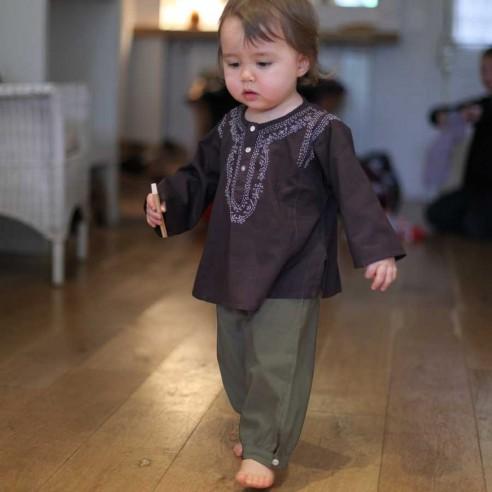 pantalon bébé fille kaki