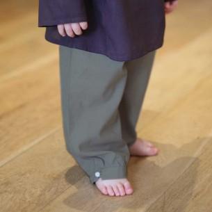pantalon bebe coton kaki