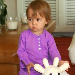 Tunique longue brodée pour bébé - TUNIQUES - Tortue de Mer