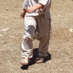 Sarouel fille en voile de coton beige