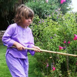 Kids Summer kaftan purple