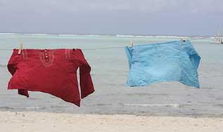 Kaftans voile de coton Tortue de Mer